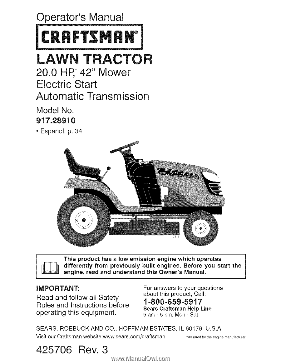 craftsman 28910   operation manual craftsman mower schematics murray lawn mower schematics