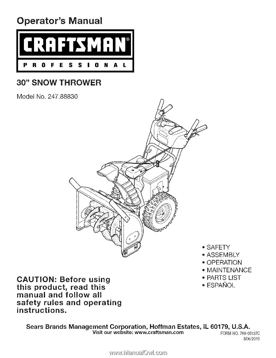 Carburetor Fits Craftsman 30cc 4 Manual Guide