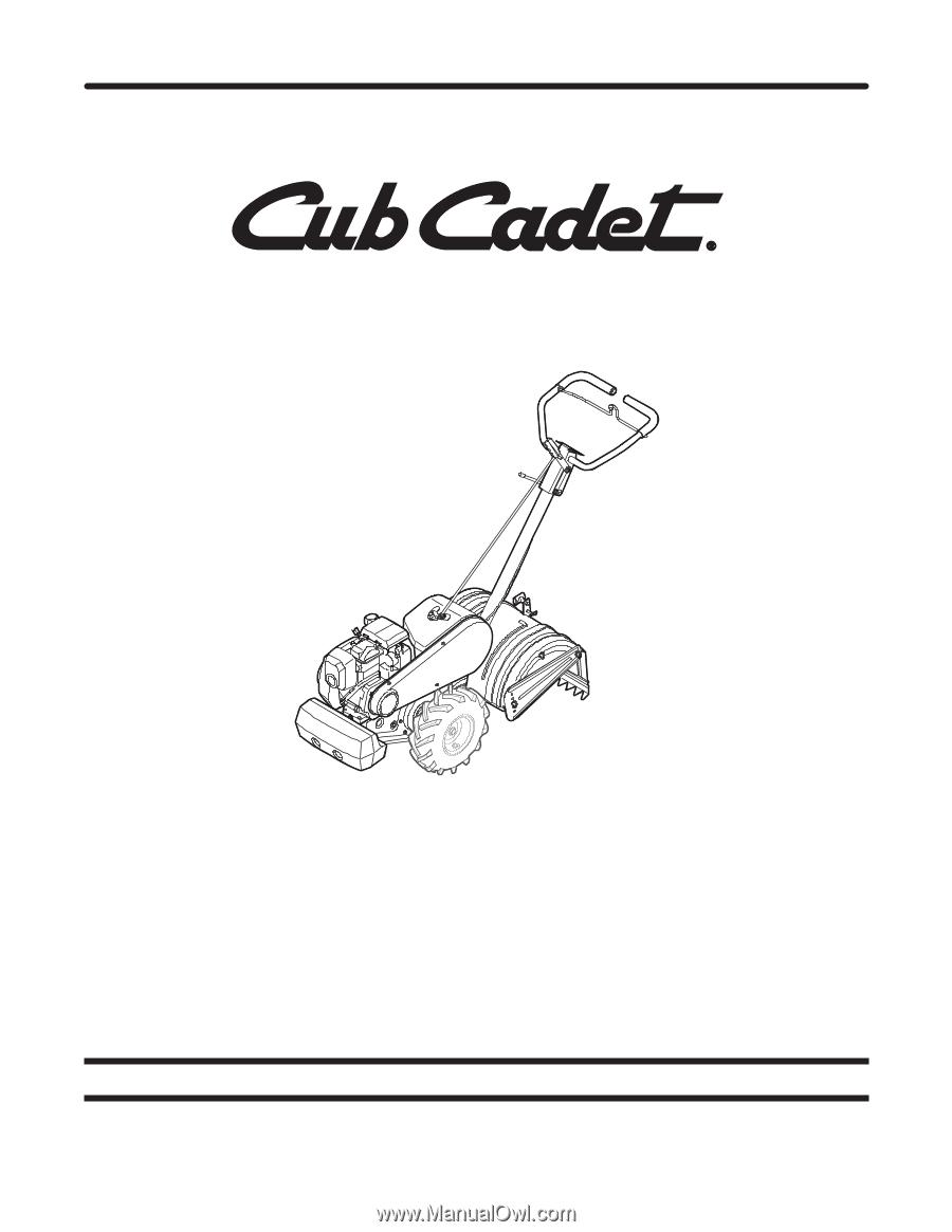 25 Cub Cadet Tiller Parts Diagram