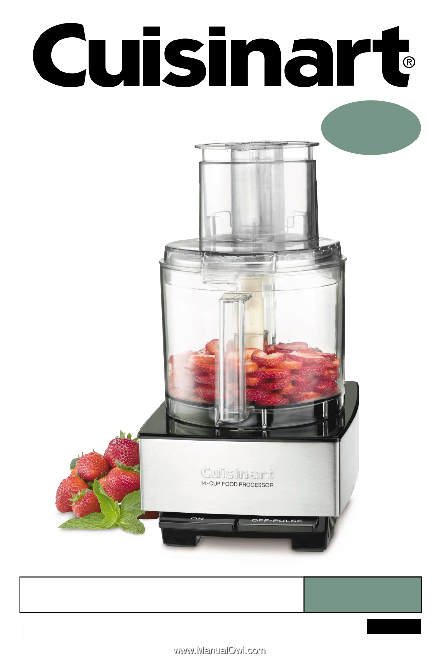 Cuisinart Food Processor Instruction Guide