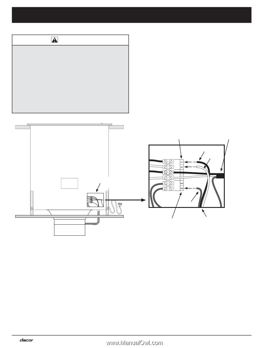 Dacor Erv3015 Installation Instructions Page 15 Range Wiring Diagram 10