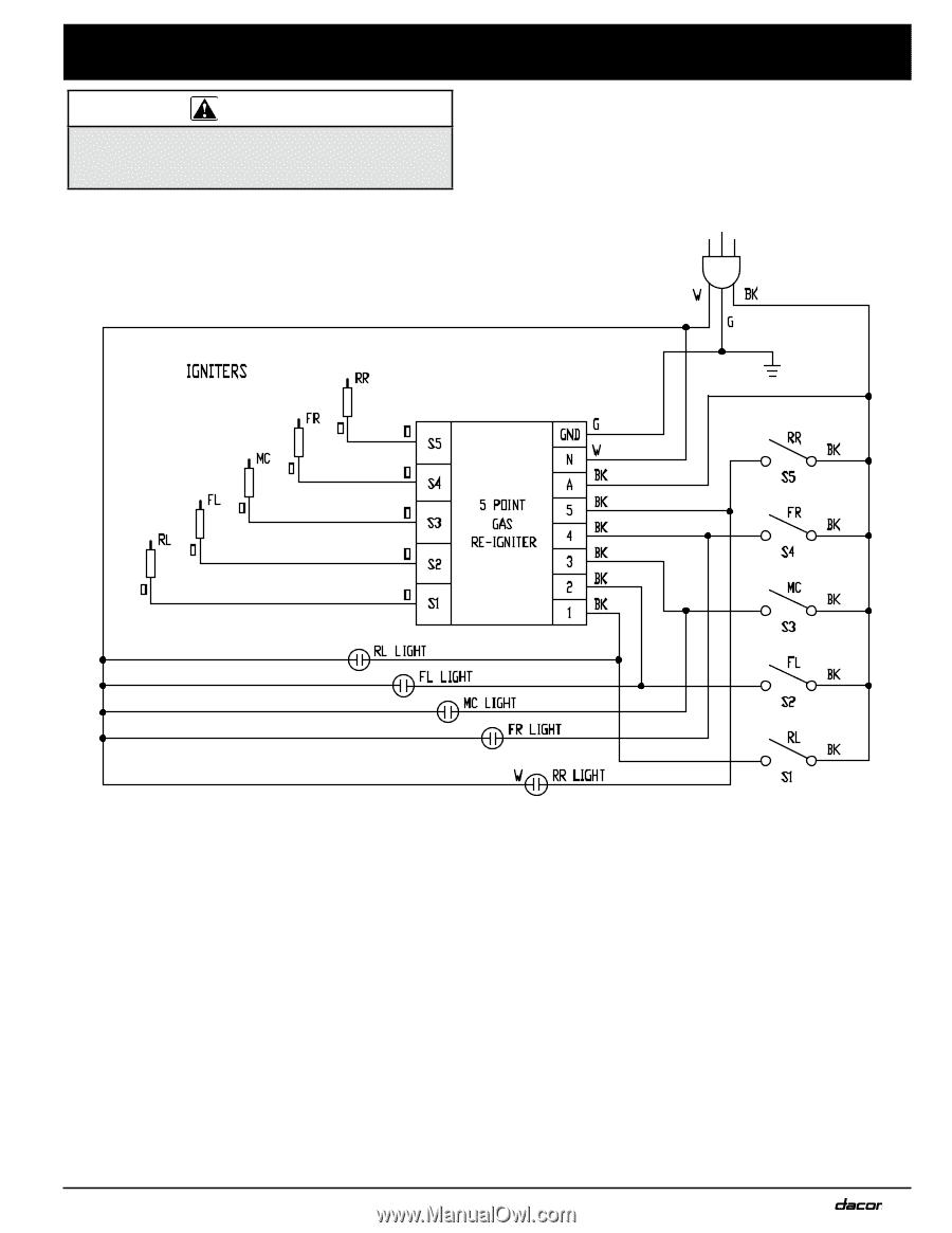 Dacor Rnct365g 109386revarnctxxxgcooktopinstalls Page 15 Wiring Diagram 11 Diagrams