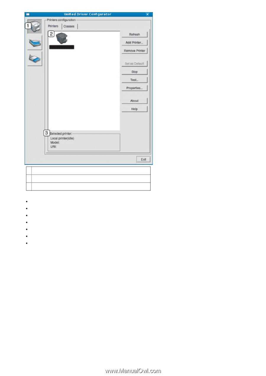 1. Switches to. Printers configuration .