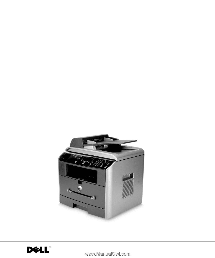 w w w. d e l l . c o m / s u p p l i e s | s u p p o r t . d e l l . c o m.  Dell™ Laser Multi-Function Printer 1600n. Owner's Manual