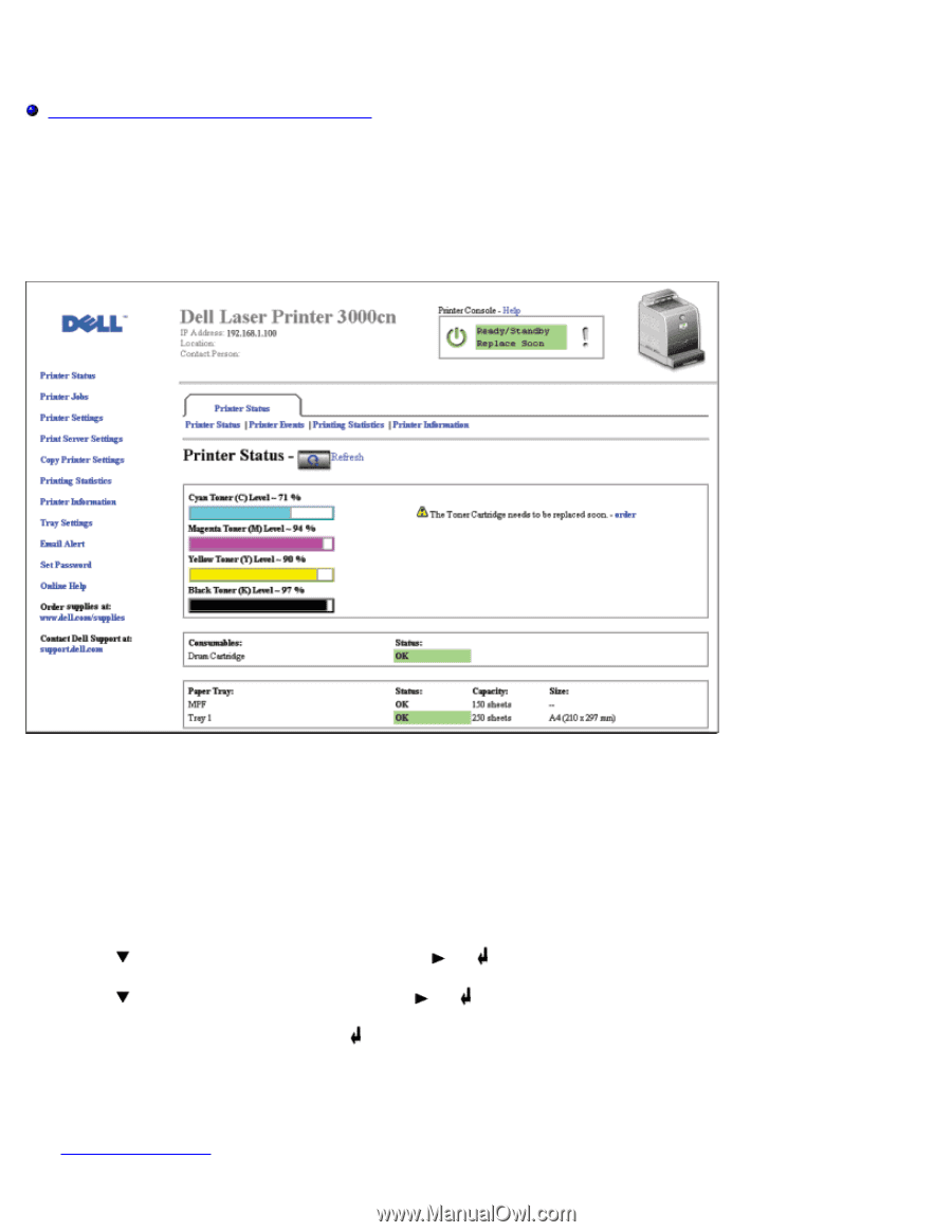 Dell 3000cn Color Laser Printer | User's Guide