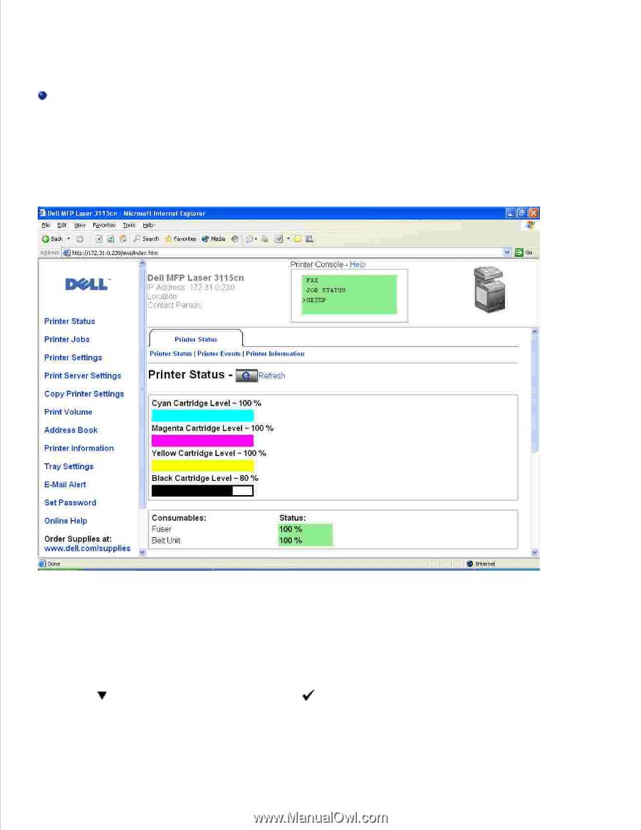 dell 3115cn color laser printer dell 3115cn user s guide rh manualowl com Dell 3115Cn Transfer Belt Unit Dell 3115Cn Manual