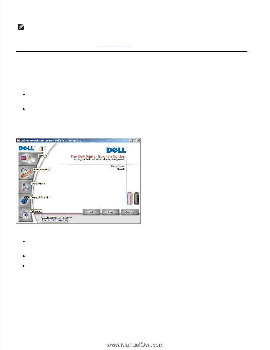 NOTE: The Dell Photo Printer 720 ...