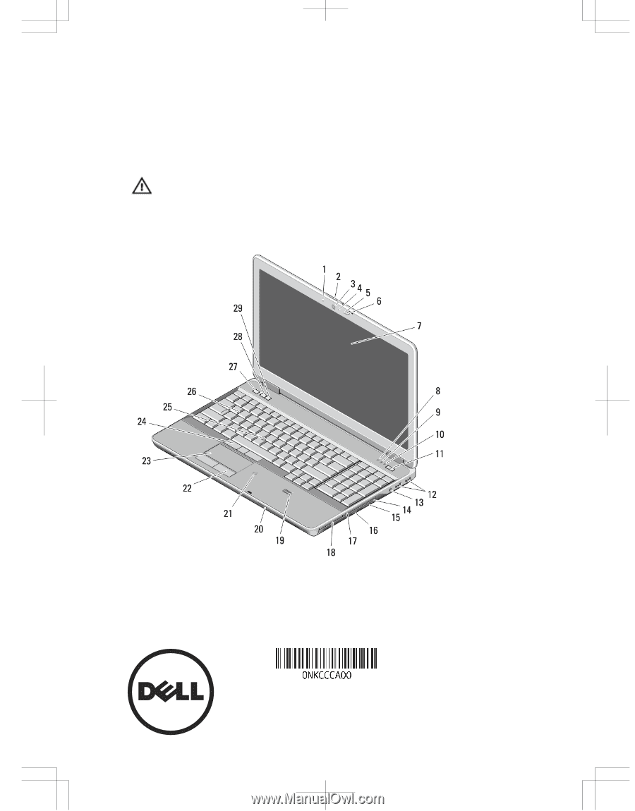 Dell Latitude E6540 | Setup and Features Information Tech Sheet