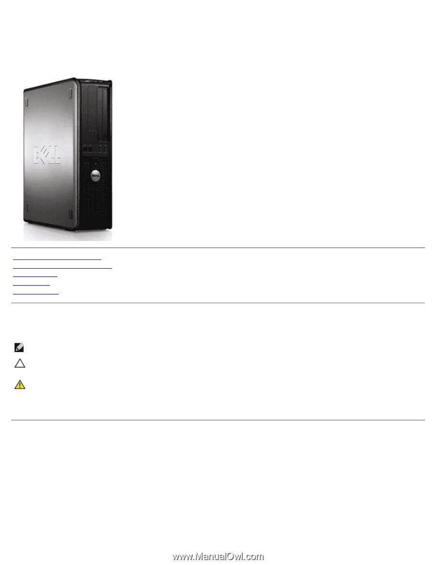 Dell™ OptiPlex™ 780 Service Manual
