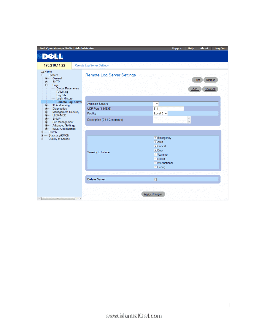 Dell PowerConnect 5448 | User's Guide - Page 98