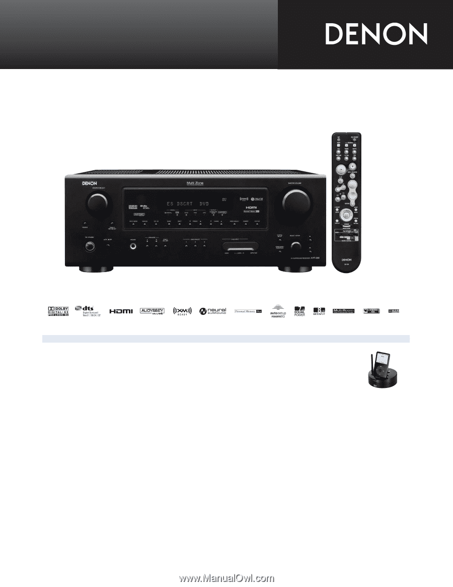 denon avr 688 literature product sheet page 1 rh manualowl com denon receiver avr-688 manual denon avr 788 manual