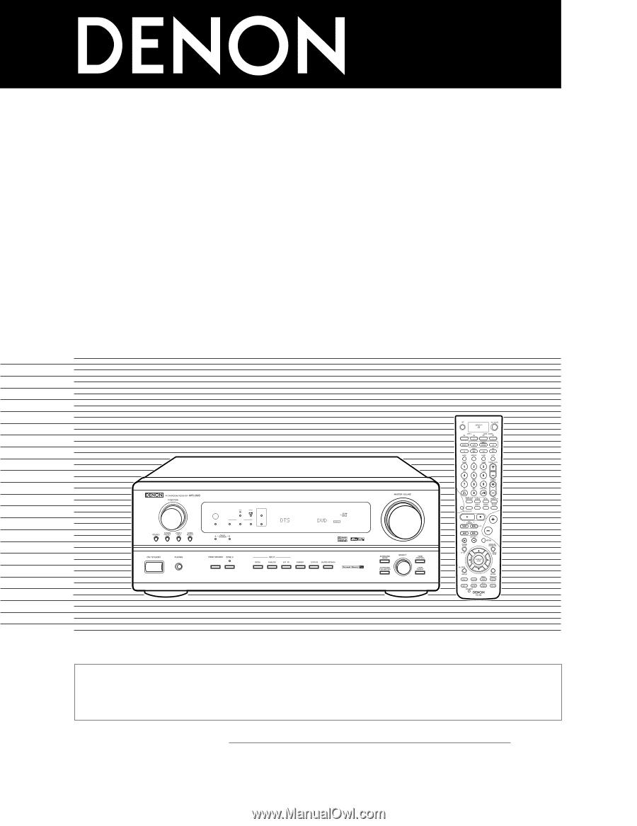 Denon avr 2803 manual