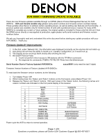 Firmware updates for denon avr 3808 receiver home theatre.