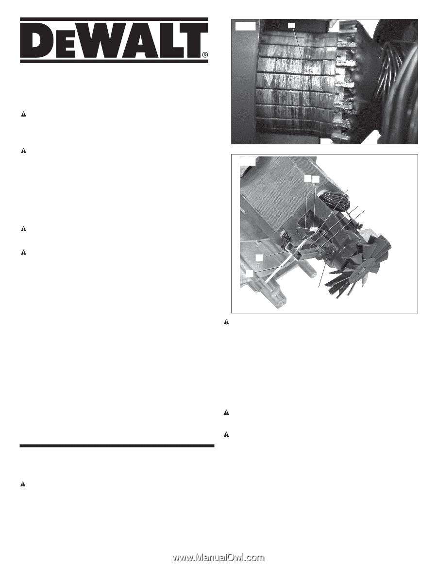 Dewalt D55167 Instruction Manual