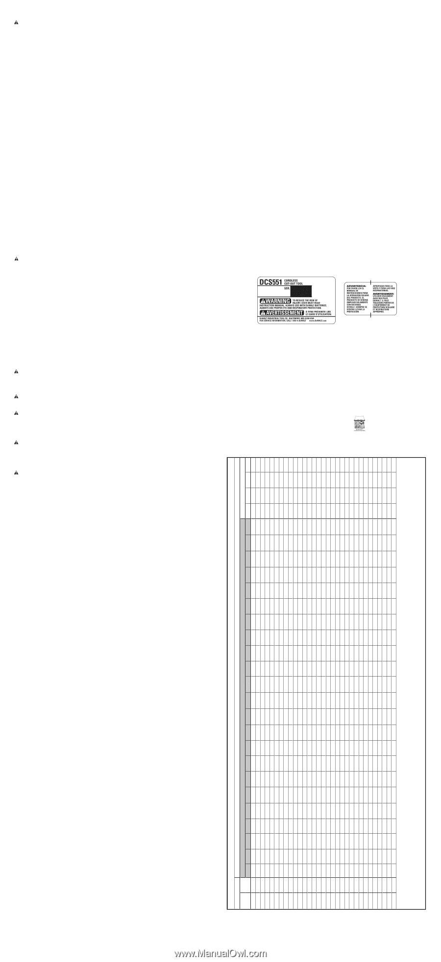 Dewalt DCS551 20 V sans fil Découpe Outil Housing Assembly