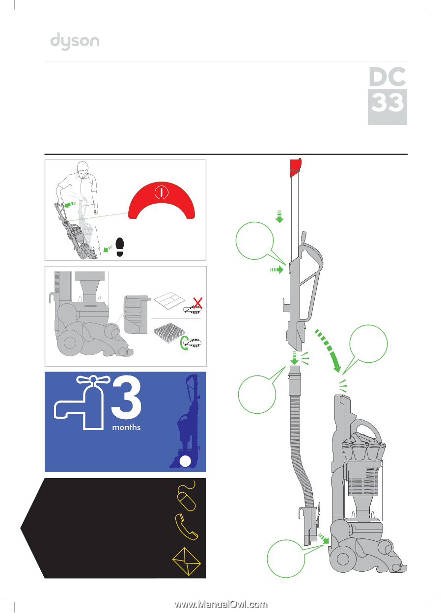 dyson dc33 manual rh manualowl com Dyson DC33 Screws dyson dc33 user guide