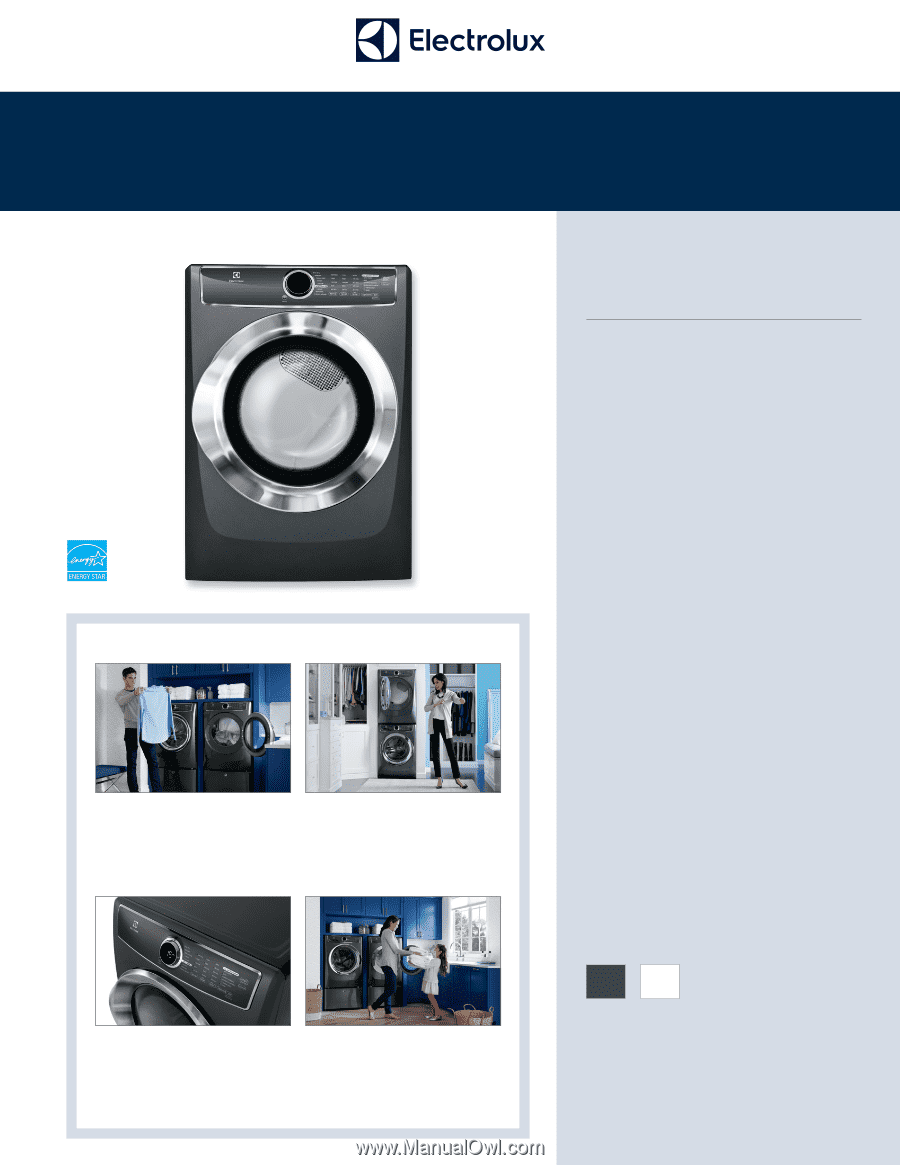 Electrolux Efmg617stt Product Specifications Sheet English
