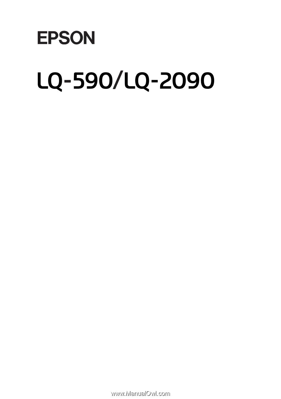 Epson lq 590 manual epson lq 590 array epson lq 590 user manual rh manualowl com fandeluxe Gallery