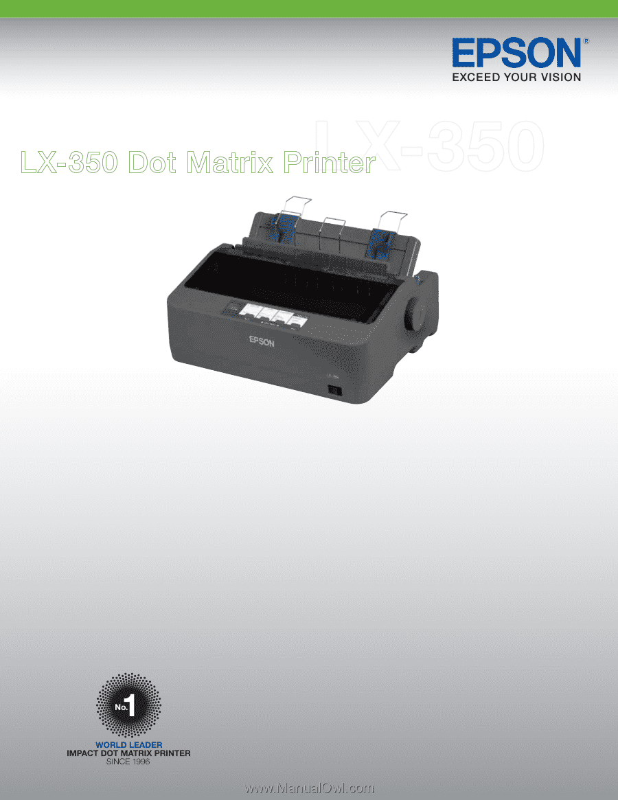 epson lx350 product specifications