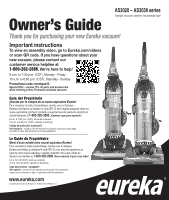 Eureka Airspeed Unlimited Pet As3033a Owner S Guide