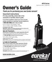 Eureka Boss Smartvac Pet Lover 4870sz Owner S Guide