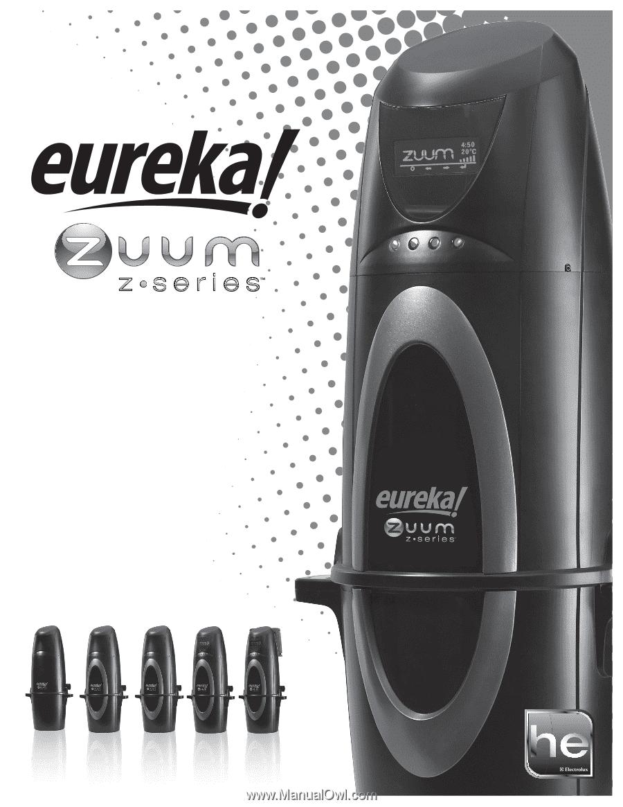 eureka ecv5400b zuum zseries owners guide rh manualowl com Eureka Upright Vacuum Parts Eureka Bagless Vacuum Manual