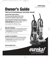 eureka maxima 4704res owner s guide rh manualowl com eureka maxima instruction manual eureka vacuum user manual