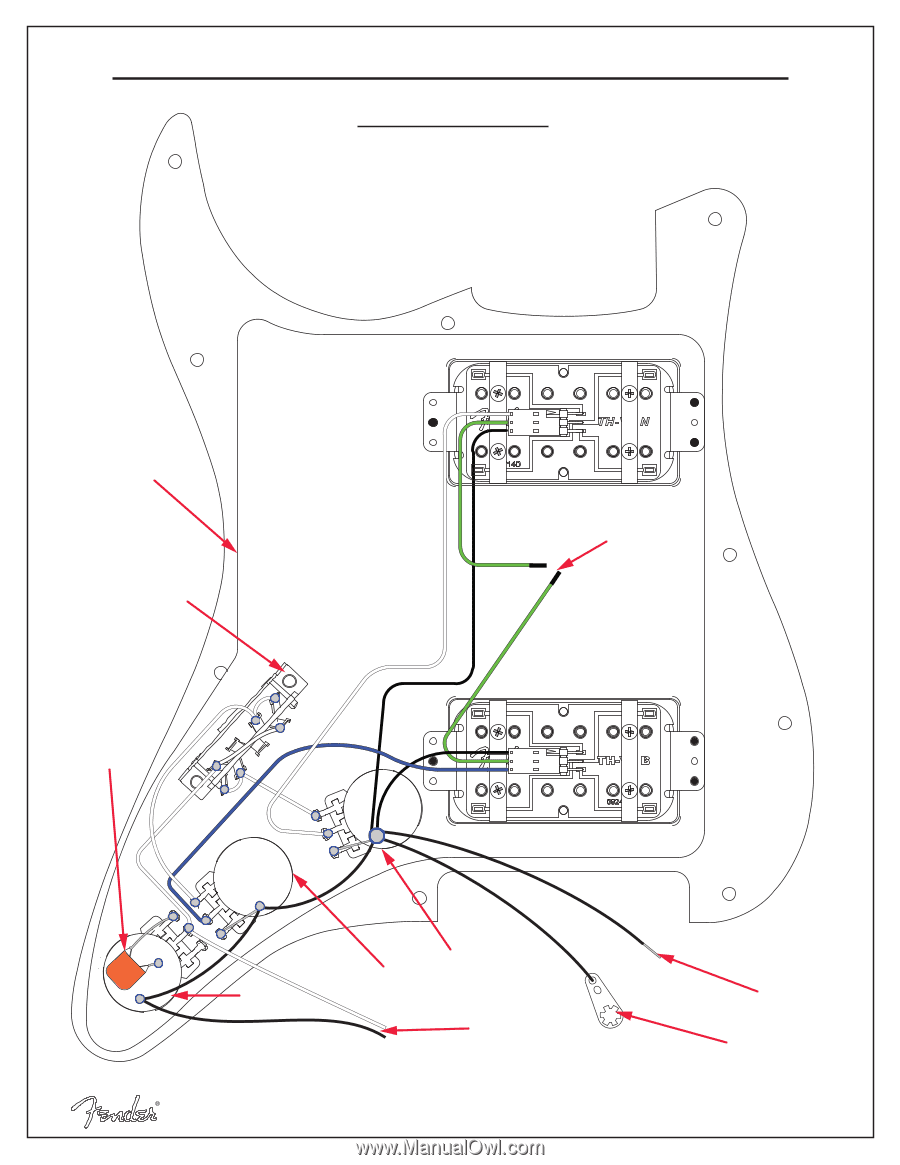 Fender American Standard Stratocaster Wiring Diagram