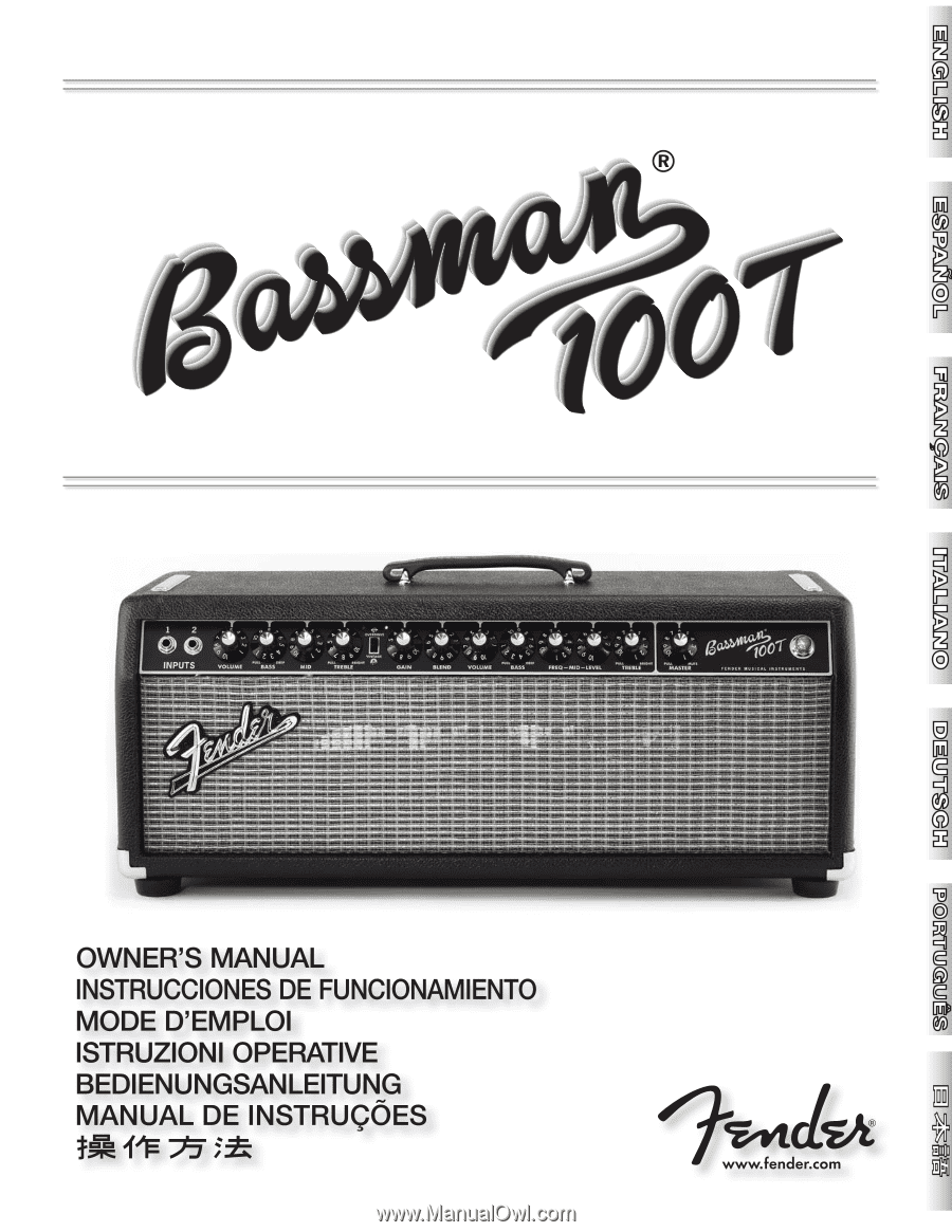 Fender Bassman 100T | Owners Manual