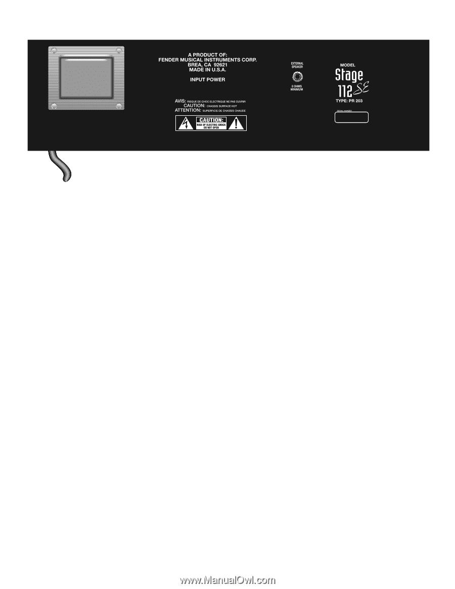 Fender Stage 112 Se Wiring Diagram. . Wiring Diagram on