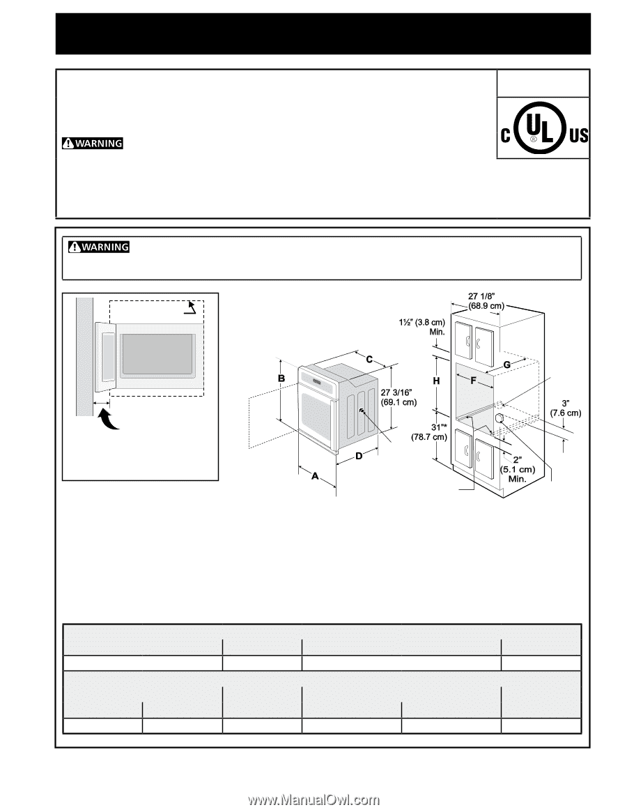 frigidaire fgew276spf installation instructions. Black Bedroom Furniture Sets. Home Design Ideas