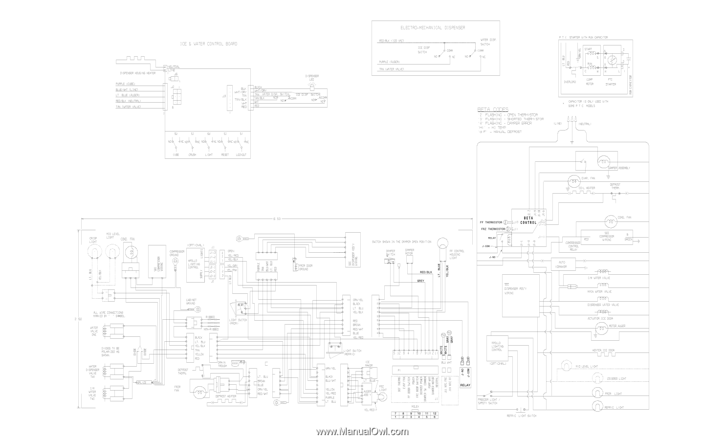Frigidaire Ffhs2611lw Wiring Diagram All Languages Page 1 Valve Baseline 4 5 Button Beta 242077001