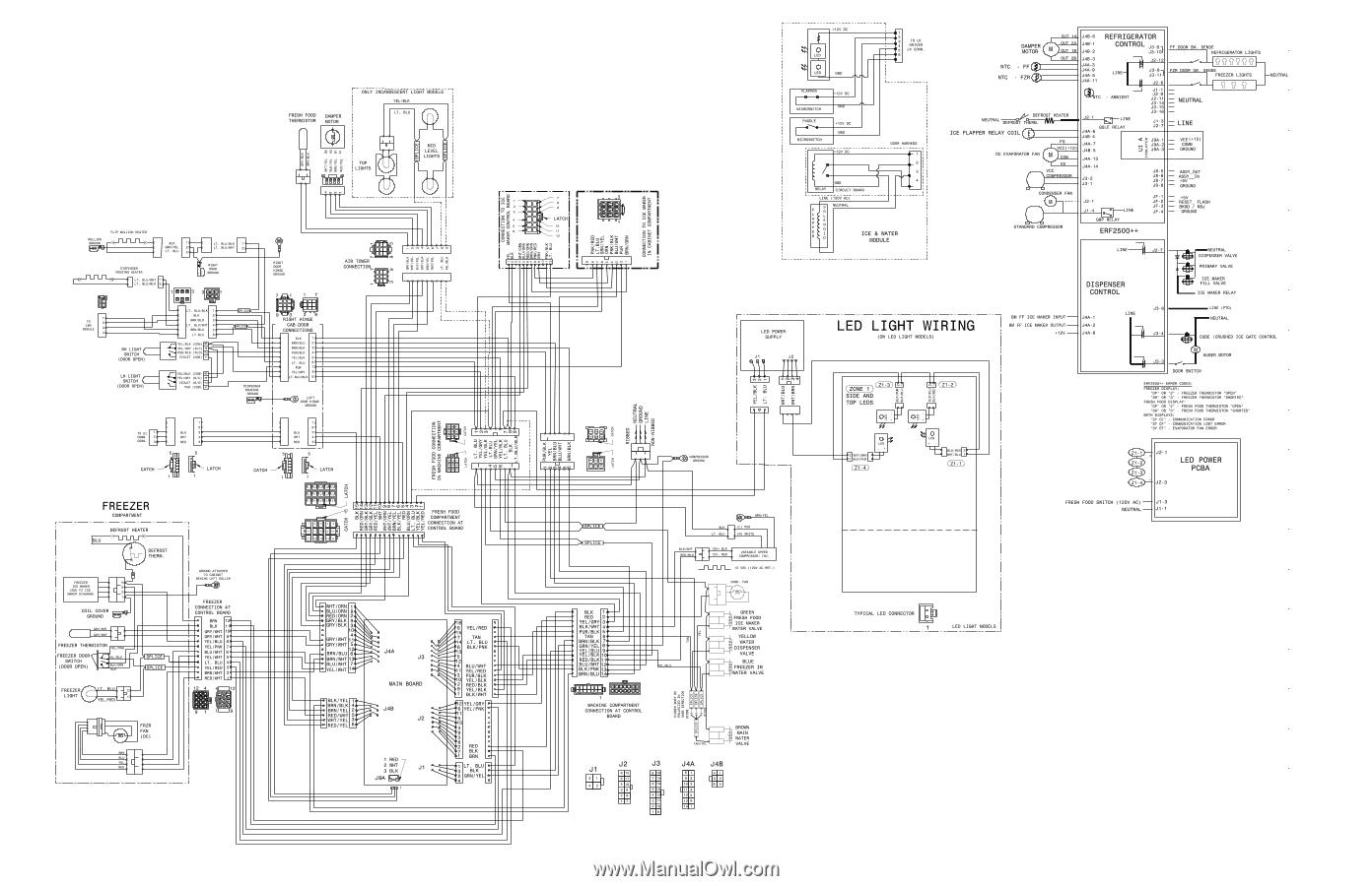 frigidaire valve wiring diagram frigidaire fphb2899lf wiring diagram  all languages  page 1  frigidaire fphb2899lf wiring diagram