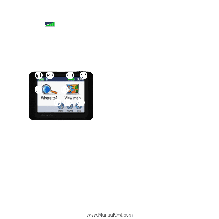 Garmin Nuvi 265T | Quick Start Manual