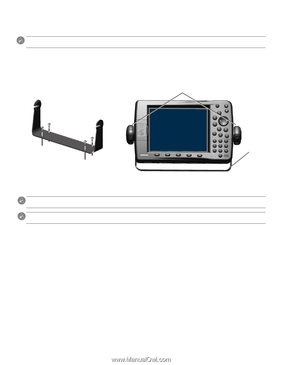 Garmin Gpsmap 3205 Installation Instructions Page 2