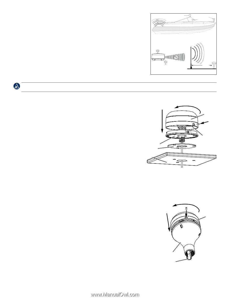 garmin gpsmap 3205 | installation instructions - page 6  manual owl
