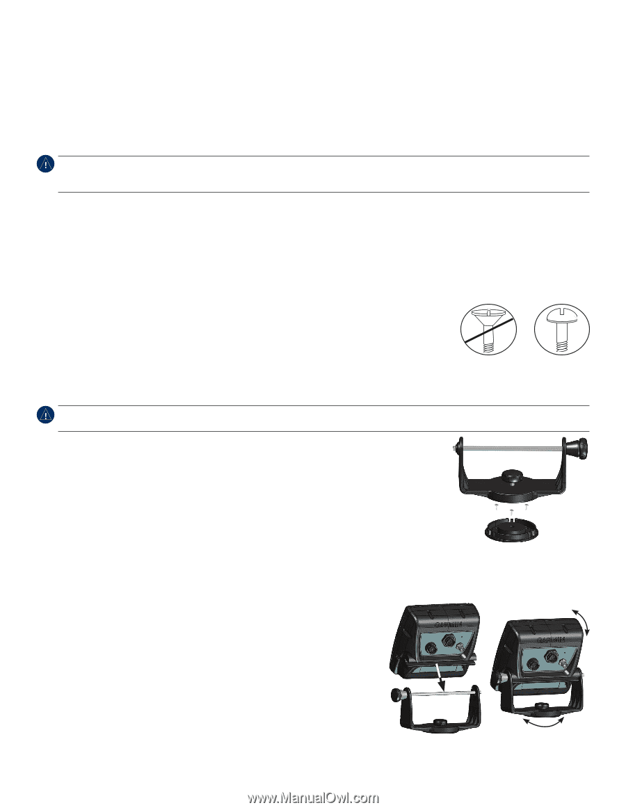 Garmin echoMAP 50s | Installation Instructions on
