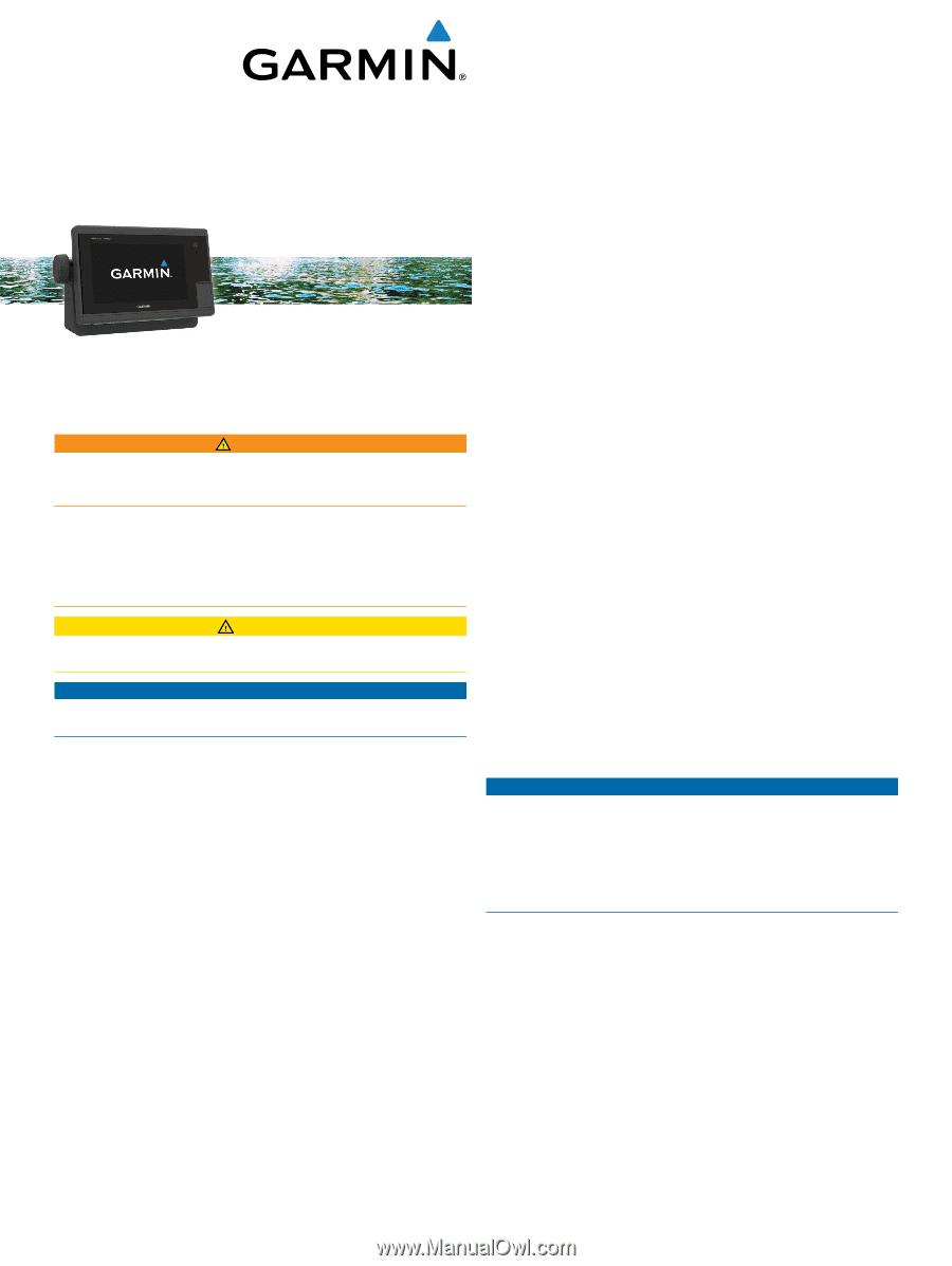 Garmin GPSMAP 7612xsv | Installation Instructions