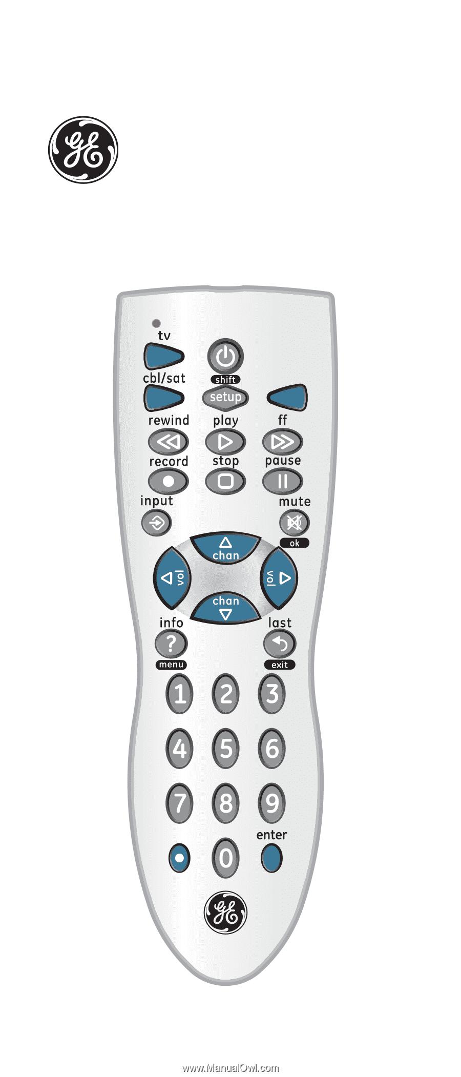 Universal Remote. Instruction Manual