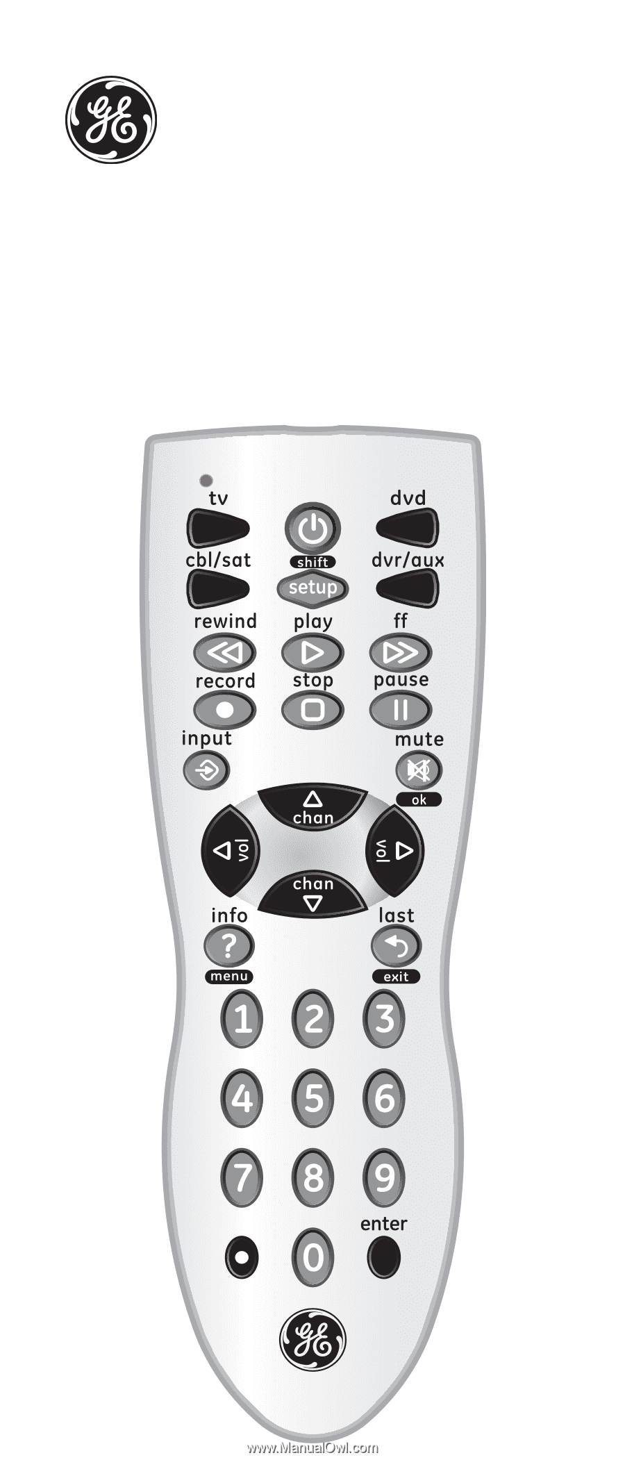 Universal Remote. Instruction Manual