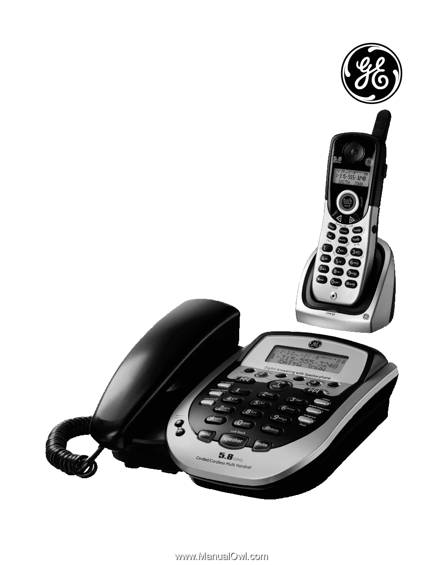 Model 25881. 5.8GHz Dual Handset. Speakerphone/Answering. System User's  Guide