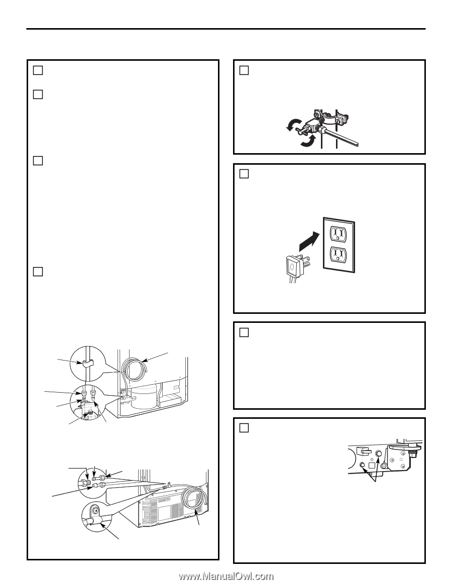 CONNECTING THE REFRIGERATOR TO
