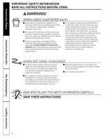 GE DBXR463EGWW | Owners Manual - Page 6 on