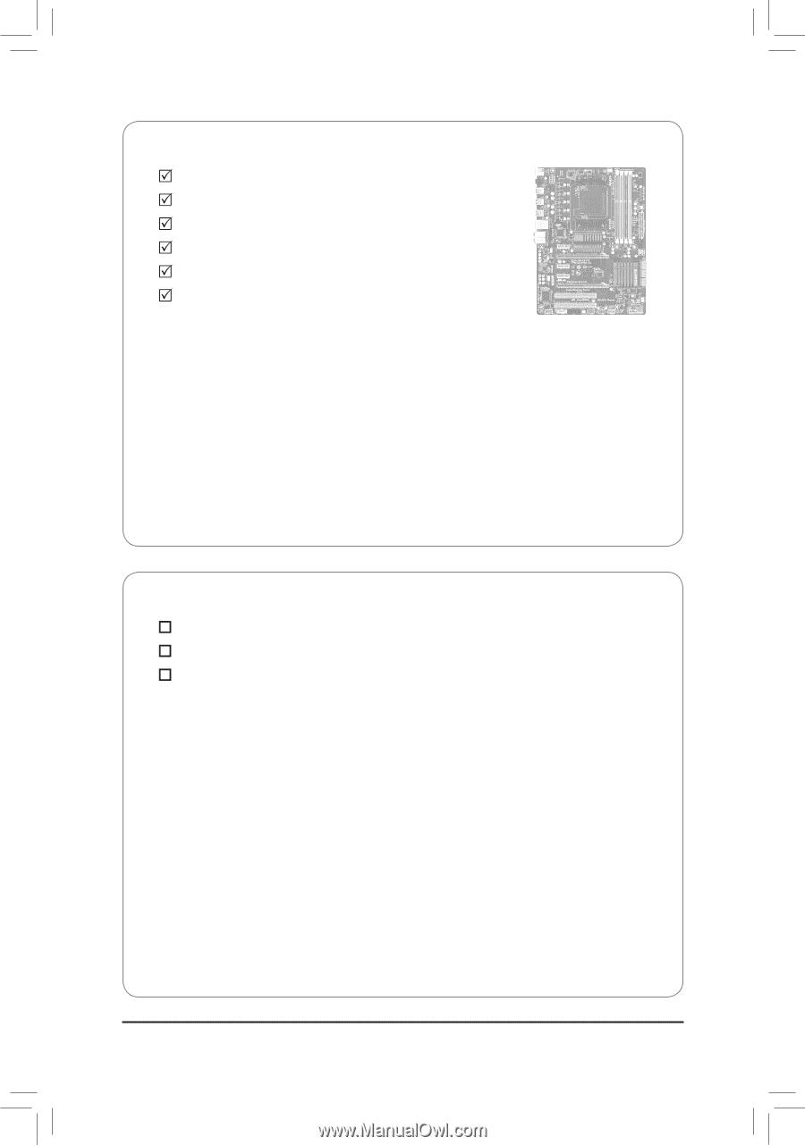 6 -  box contents  ga-970a-d3 motherboard