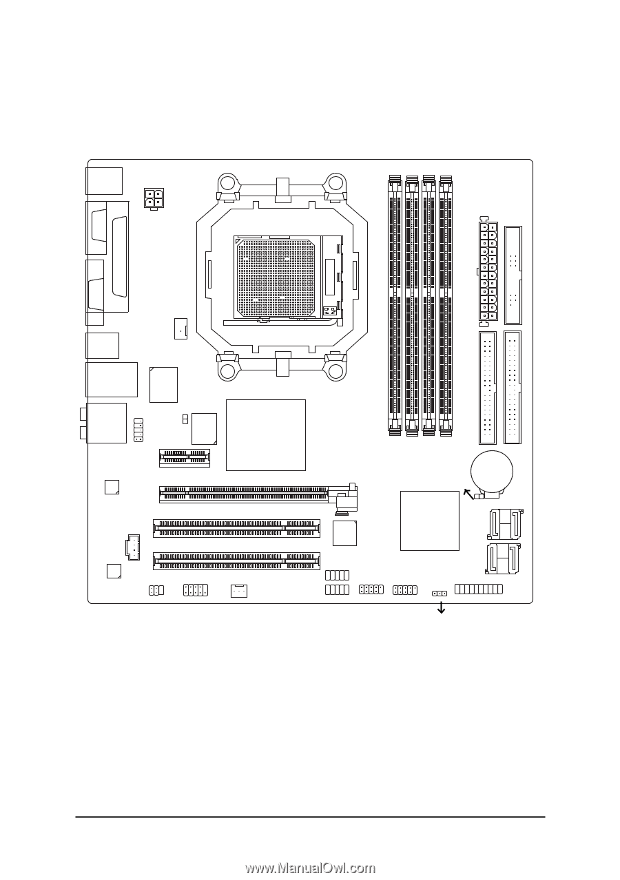 7 -. GA-M51GM-S2G Motherboard Layout