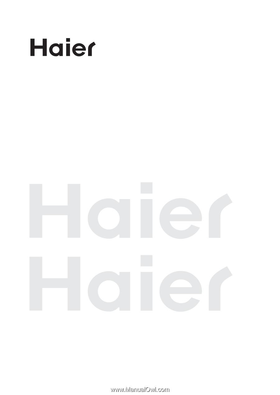haier 42ep24s user manual rh manualowl com Haier Dehumidifier Haier Washing Machine Manual