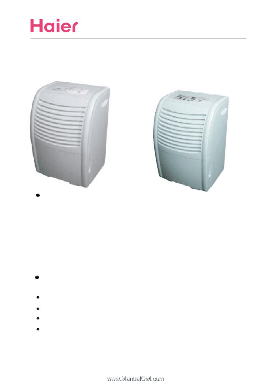 Haier HD456E | User Manual on