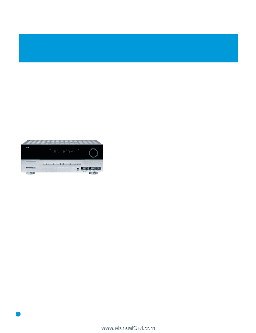 Harman Kardon AVR 144 | Owners Manual