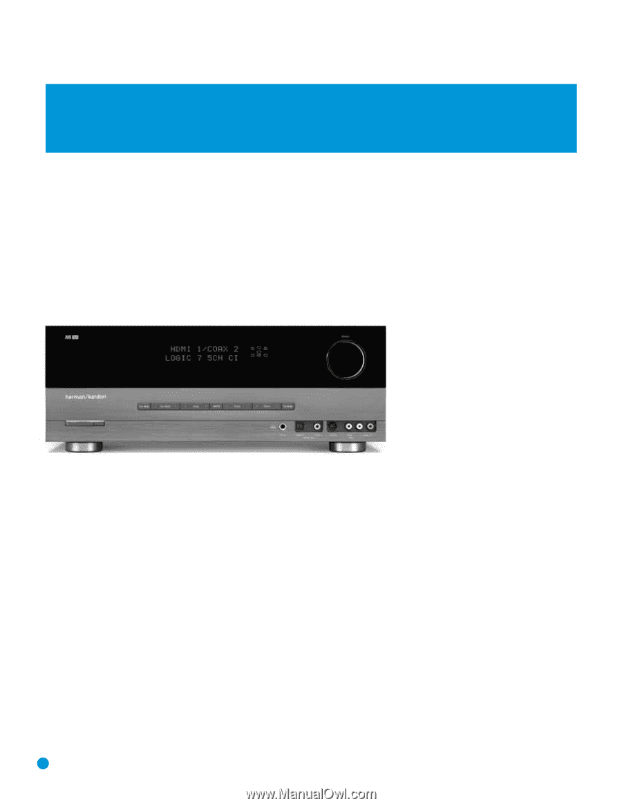 Harman Kardon AVR 154 | Owners Manual