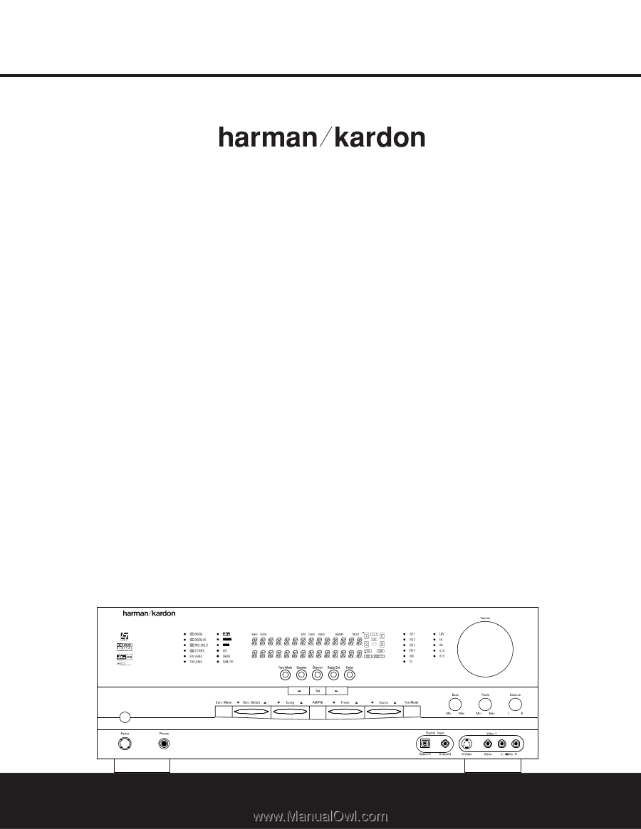 Harman Kardon AVR 325 | Owners Manual